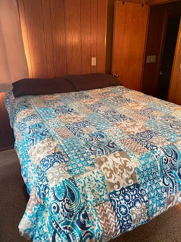 Bedroom with full size bed