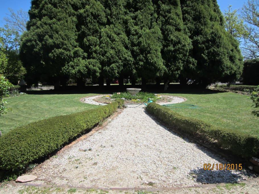 Front garden stone pathway.