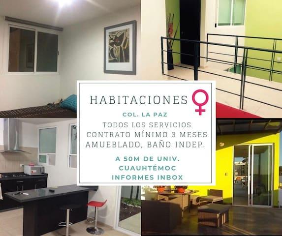 Pension para Señoritas en Colonia La Paz