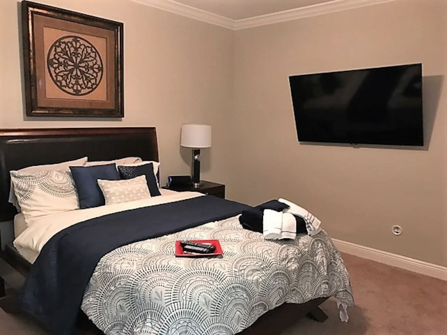 Bedroom with cable TV