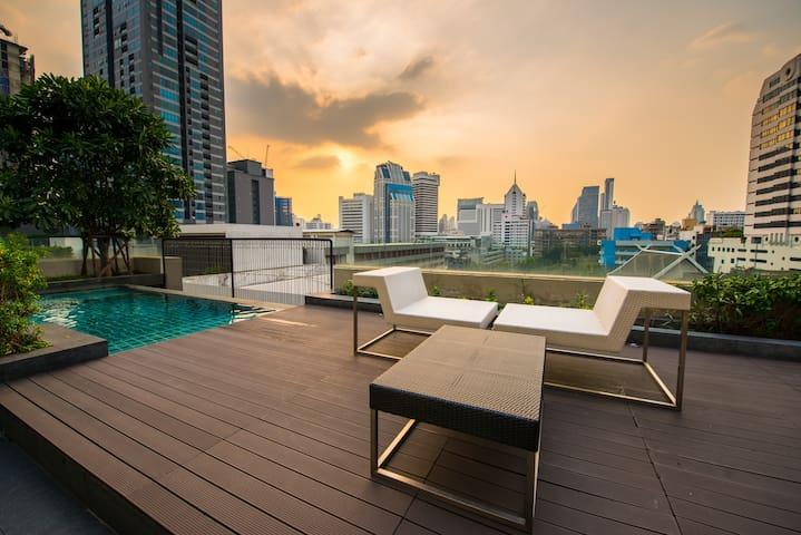 Cozy Convenient Apt  500 m to BTS MRT Sukhumvit - Bangkok - Appartement en résidence