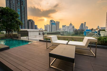 Cozy Convenient Apt  500 m to BTS MRT Sukhumvit - Бангкок - Кондоминиум