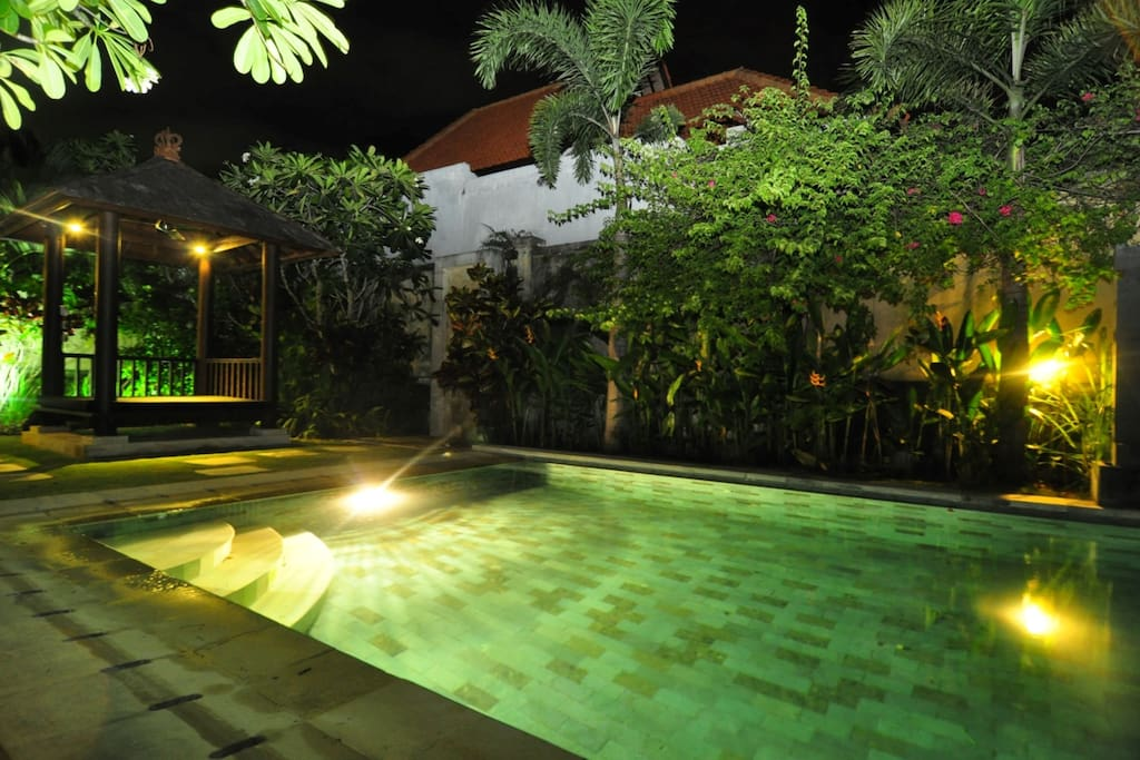 Night time at your very own pool