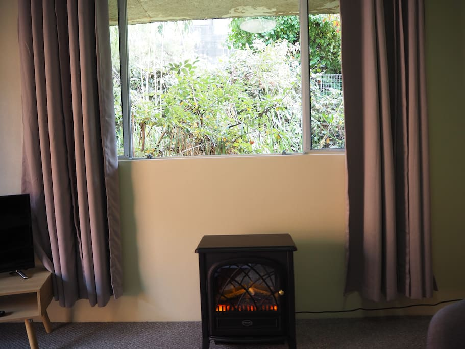 Cosy Heater with View of Rock Wall