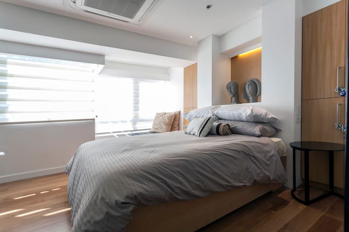 Our loft is chic, modern and super comfortable all at the same time.