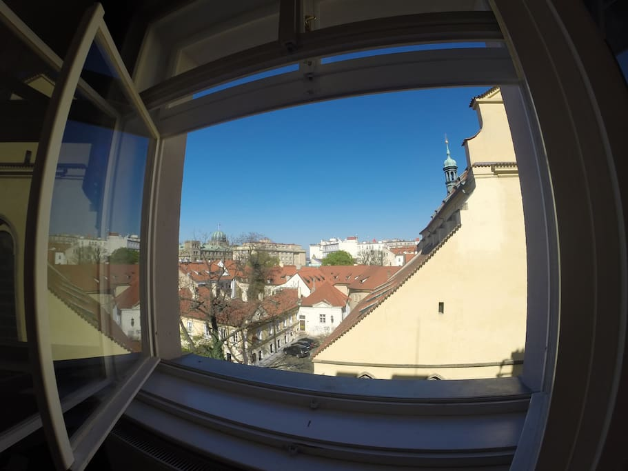 Spectacular views of Prague from the bedroom windows!