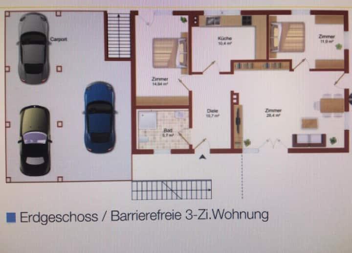 Untere Wohnung Gästehaus Lüneburg Süd