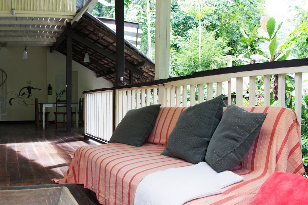 Enjoy the view from the sitting area to the surrounding nature
