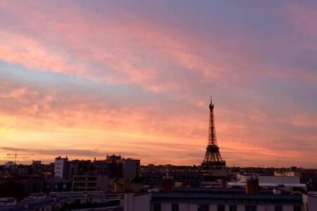 Romantic studio in the heart of Paris - Parijs