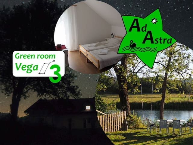 Green room Vega @ Ad Astra House by river Gacka