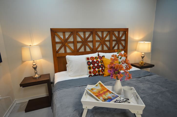 Cozy and comfortable one bed room apartment with everything the solo traveler, couple or business traveler needs.