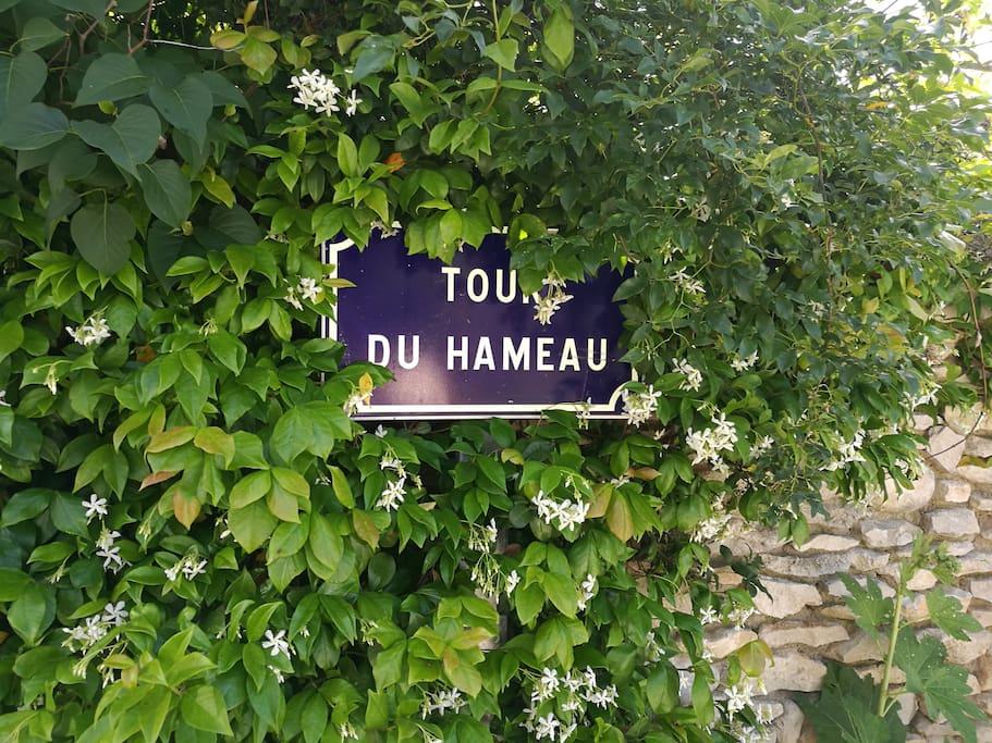 Arrivée à La Tour du Hameau