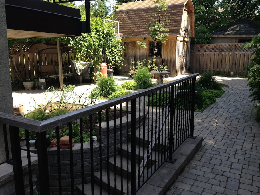 To Rear Entrances and Garden Courtyard from Street