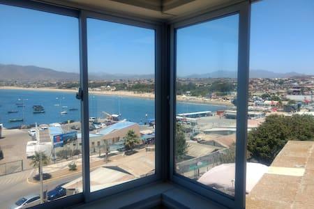 Depto 4 personas guanaqueros, hermosa vista al mar