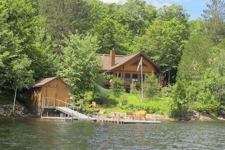 On Lake Tremblant, magical views - House