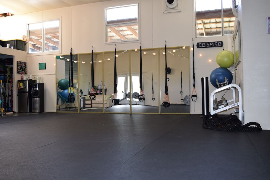 Fully equipped fitness studio