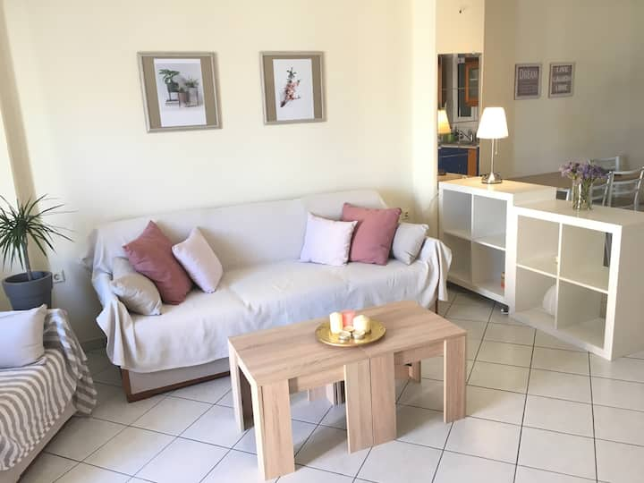 A cozy flat near Gribovo beach
