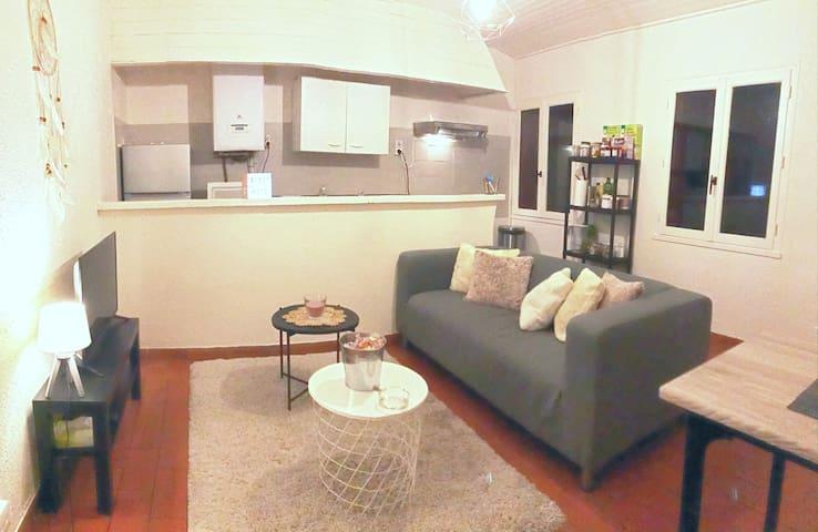 Appartement cosy, plein centre, 70m2, tout équipé.