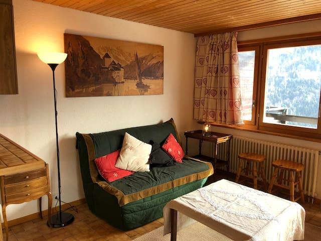 living - canapé-lit