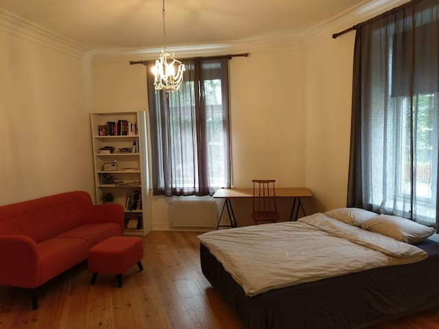Large bedroom right outside of city center.