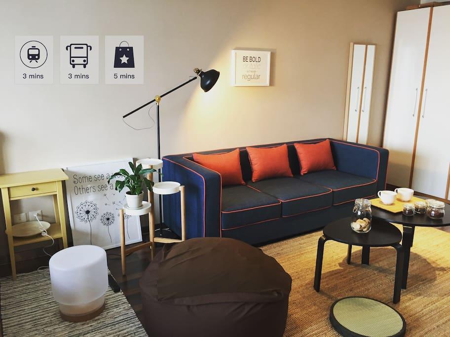 咖啡色的MUJI懒人沙发,南京瘫必备