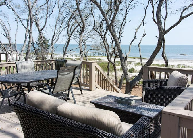 Modern, waterfront home with fire-pit and wifi; pets permitted