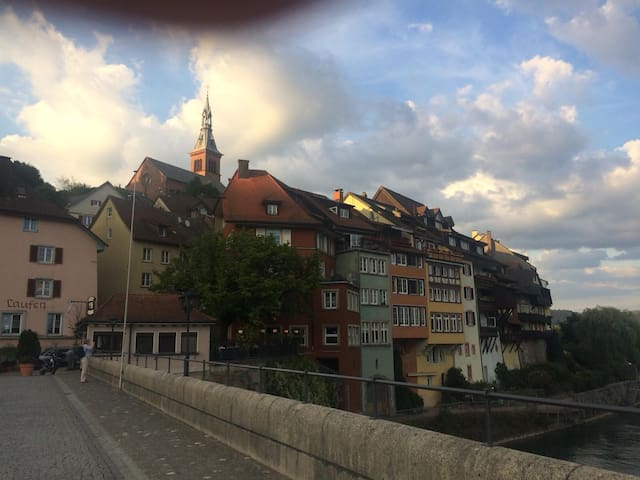 The medieval Swiss - German  border town of Laufenburg. A jewel to be seen  10 minutes casual walking pace away from the house. Prepare to be enchanted.