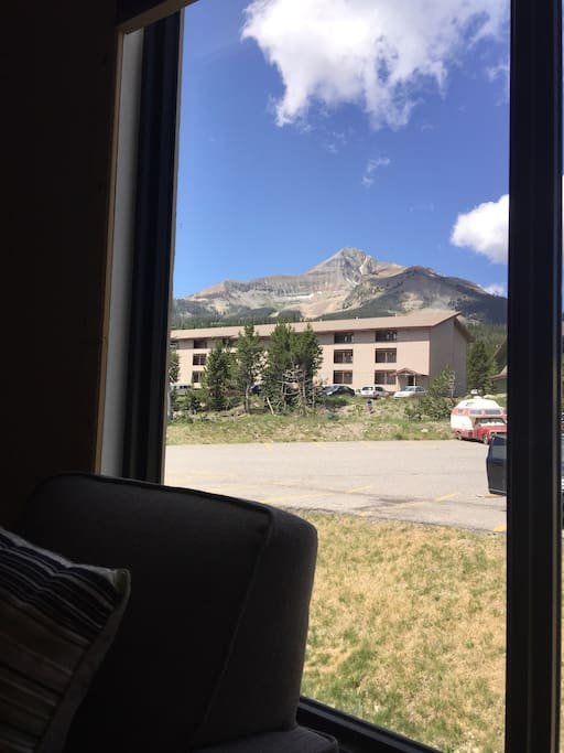 View of Lone Peak from the couch in the living room!