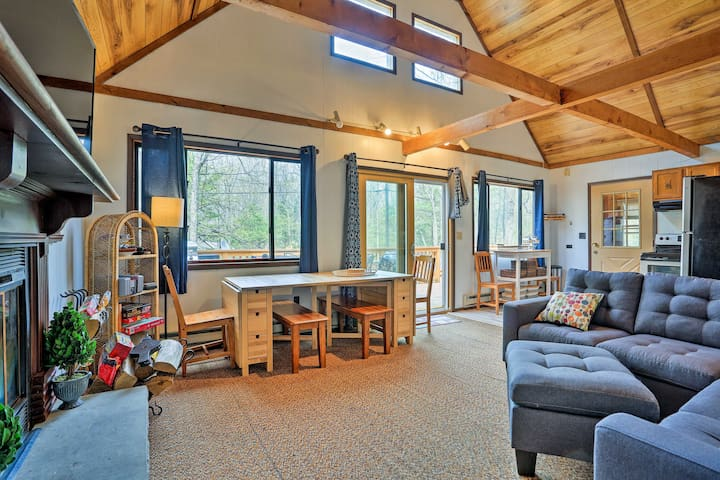 NEW! Lake Ariel Home w/Fire Pit & Shared Amenities
