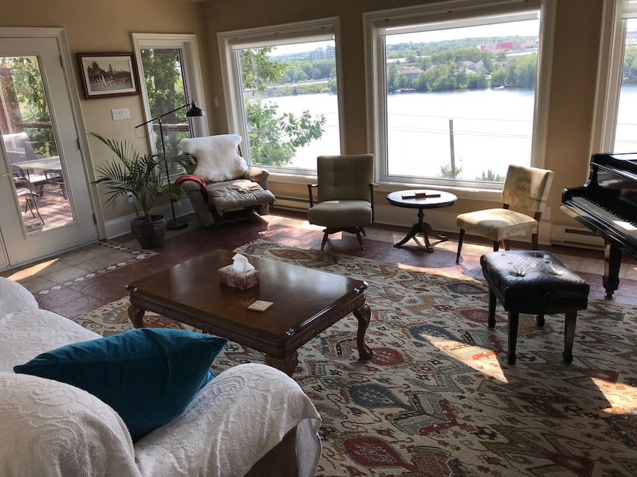 Living Room with LakeMicMac view