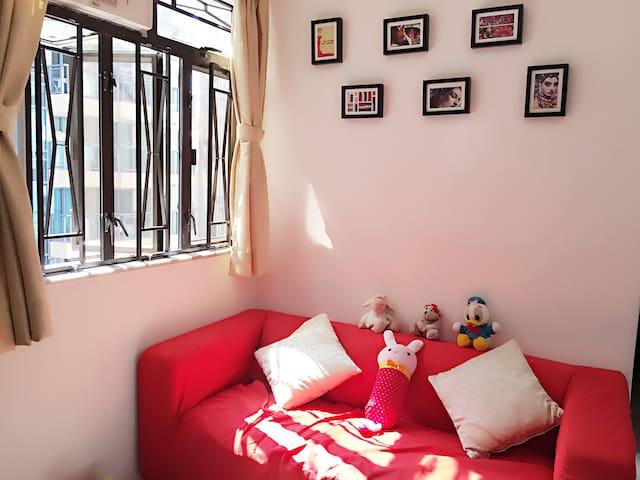 Cozy 2BR @ Kowloon downtown - walk to TST (1-6pax)