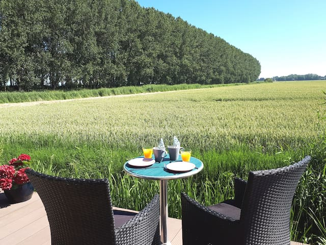 Landelijke rust en ruimte (a room with a view)!