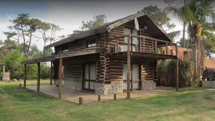 Log Cabin across from the Woods and near the Sea