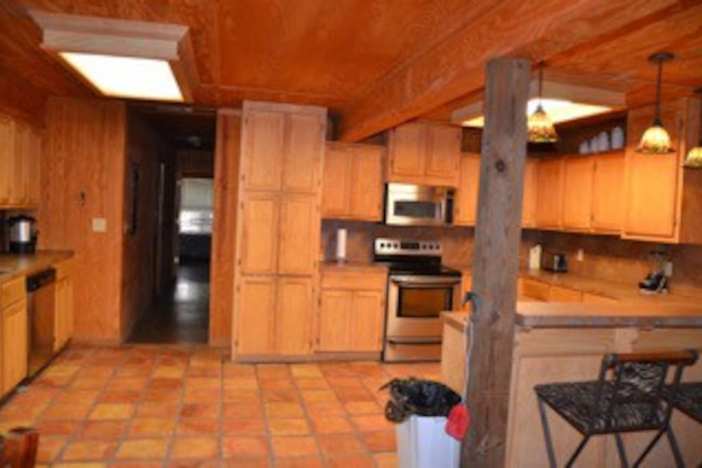Large kitchen area.