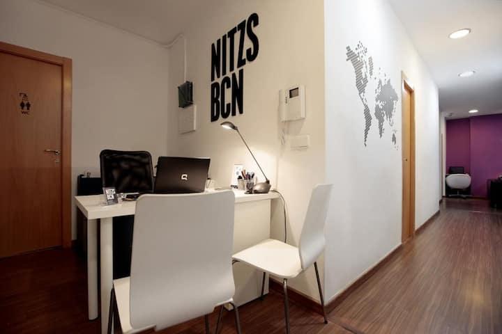 Hostal Nitzs BCN,  Double Room w/ Shared Bathroom
