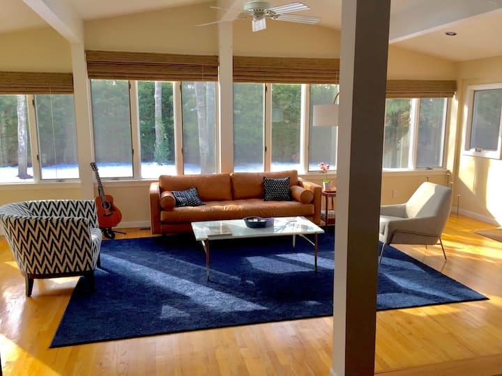 Gorgeous Mid Century Beach House with Sun Room