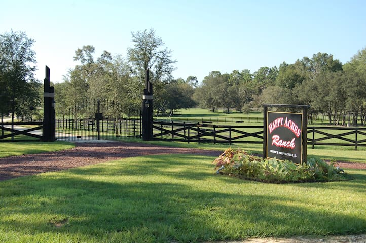 Happy Trails Lodge, SLEEPS 6, RIDE OUR HORSES - Dunnellon - Flat