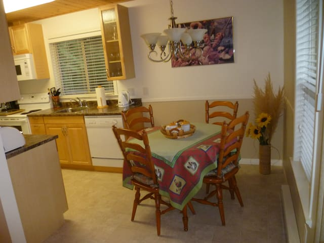 Kitchen and dining area. Seating for 6