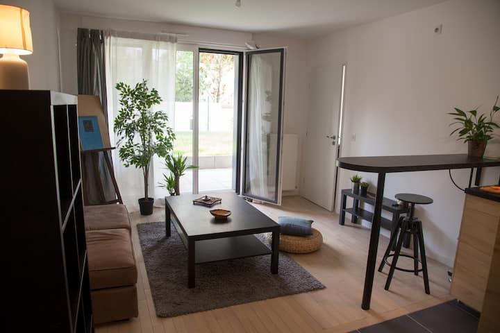Appartement neuf sur Jardin proche de Paris