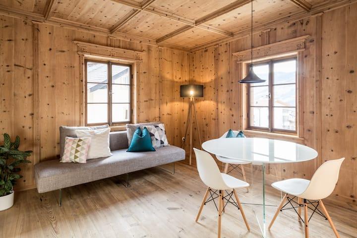 Unique design apartment in a historic farmhouse