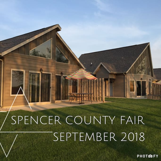 Check out this cabin for the Spencer County Fair. Call for more information 605 202-0423. Fall season rates available.