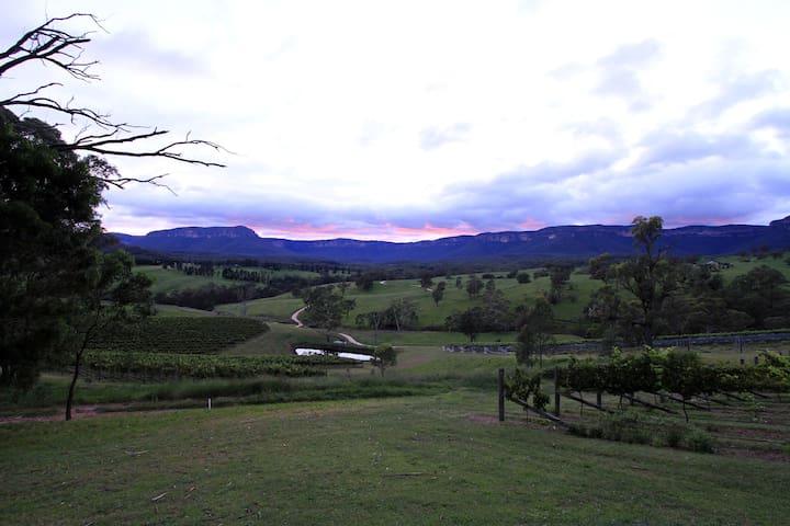 Magnificent sunset lighting up the escarpment