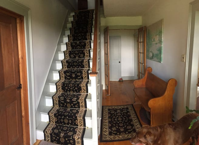 Stairway to second floor.