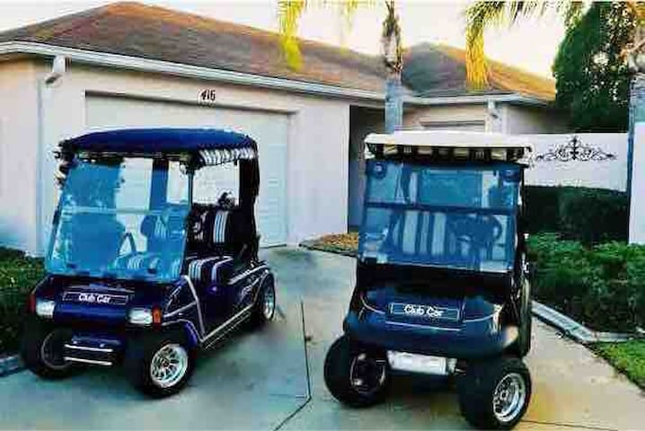Villa 2 GOLF CARTS & 2 Master Suites