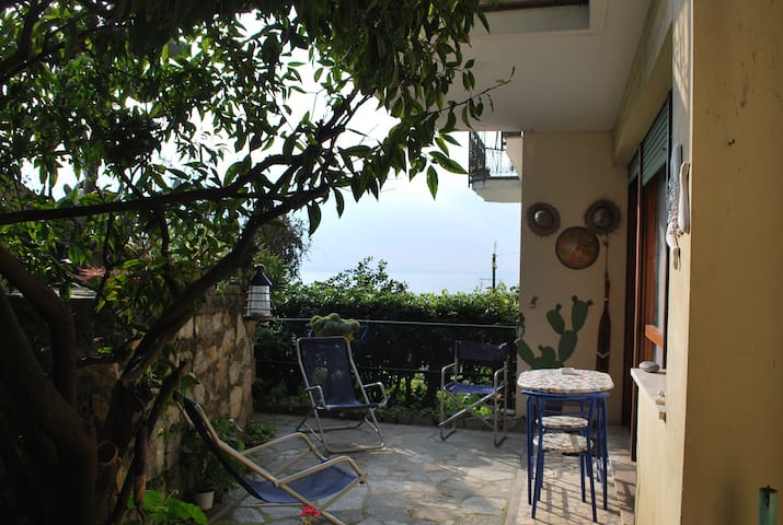 Large apartment with private little garden