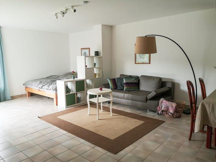 Modern eingerichtete Wohnung im Grünen