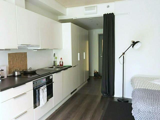 Brand new studio apartment with balcony in Turku