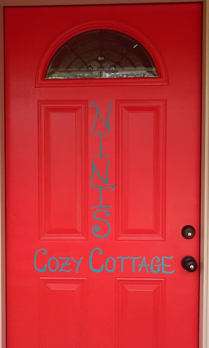 Recently painted name on the door!