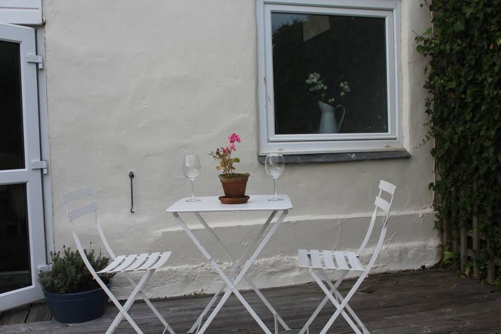 Seating area outside