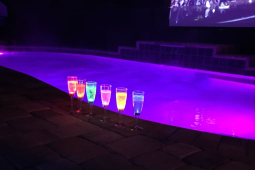 Your OWN Private Pool w-Color Changing Mood Lighting